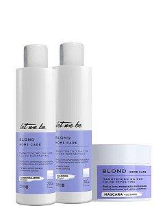 Let Me Be Desamarelador Matizador Kit Home Care Blond 3 Produtos