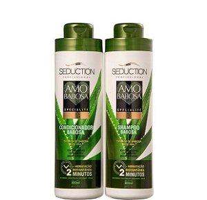 Eico Amo Babosa Kit Shampoo e Condicionador Crescimento Capilar 2x800ml