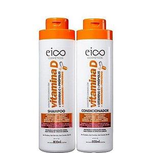 Eico Cosméticos Vitamina D Kit Shampoo e Condicionador 2x800ml