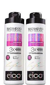 Kit Eico Intense Repair Shampoo e Condicionador Tratamento 2x1 Litro