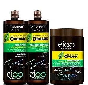 Eico Life Tratamento Intensivo Organic Kit Sh Cond e Máscara 3x1L