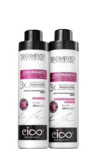 Eico Life Liso Mágico Kit Shampoo e Condicionador Leave-in 2x280ml