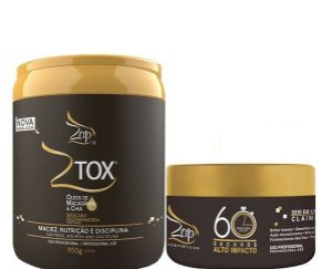 Btox Zap  Ztox Macadamia Alisa e Reduz Volume 950g + 60 Segundos 250g