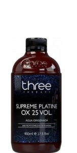 Three Therapy Água Oxigenada Supreme Platine Ox 25 Vol 900ml
