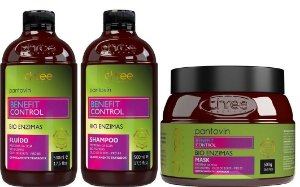 Three Therapy Pantovin Benefit Control Shampoo + Fluido + Mask 500g