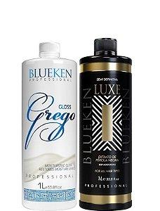 Blueken Progressiva Gloss Grego 1L + Progressiva Luxe 1Litro