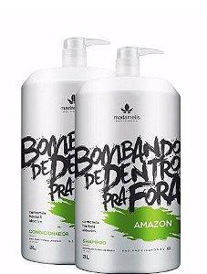 Madamelis Amazon Kit Lavatório Shampoo/condicionador 3 Litros