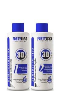 FortyLiss Escova Progressiva Semi Definitiva Sem formol Power 3D 2x1l