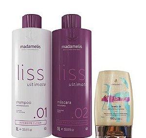 Progressiva Madamelis Ultimate Kit 2x1Litro + Leave-in Champagne 150g