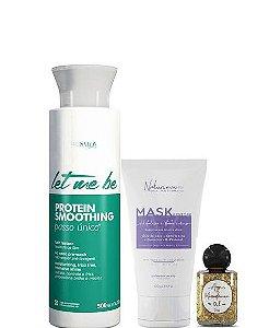 Let Me Be Progressiva Protein Smoothing Passo Único 500ml + Mask 100g + Óleo