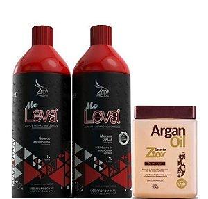 Escova Progressiva Zap 2x1 litro + Ztox Vip Argan Oil 950g