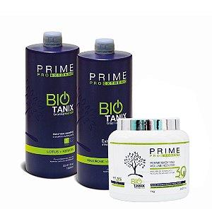 Kit Escova Progressiva + Botox Sem Formol Prime Bio Tanix 3x1000ml