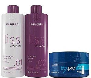Escova Progressiva Madamelis + Btx Pro Matizador Madame lis 250g