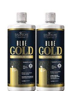 Salvatore Blue Gold Escova Progressiva Profissional 2x 1Litro
