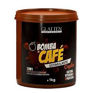 Glatten Bomba de Café Hidratação de Café e Crescimento Capilar 1kg
