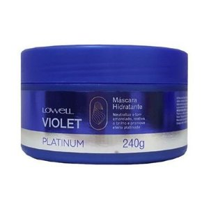 Lowell Violet Platinum Máscara Matizadora Hidratante 240g