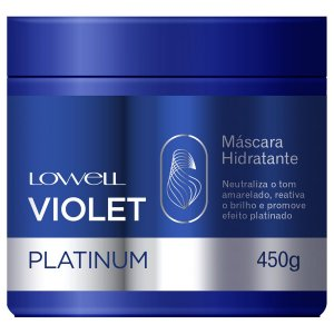 Mascara Lowell Violet Platinum Hidratante 450g + Brinde
