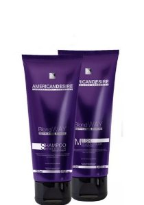 American Desire Blond Way Shampoo e Mask Revision Color 2x250ml