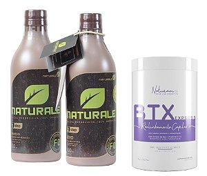 Naturale Progressiva Organica 2x500ml +B-tox Sem Formol Naturiam 1kg