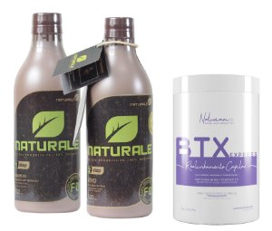 Naturale Progressiva Organica 2x500ml +Botox Sem Formol Naturiam 1kg