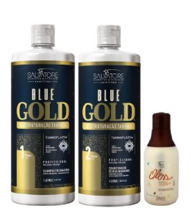 Salvatore Blue Gold Escova Progressiva 2x1L + Shampoo Oless 300ml