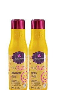 MadameLis Cabelo Feliz Shampoo e Condicionador 2x300ml + Brinde
