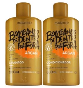 Madamelis Bombando de Dentro Pra Fora Kit Argan Home Care 2x300ml