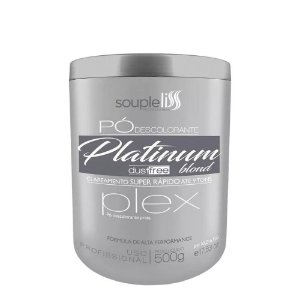 Po Descolorante Souple Liss Platinum Prata Blond 9 Tons 500g