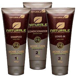 Naturale Shampoo Condicionador e Leave-in uso Diário 3x300ml + Brinde