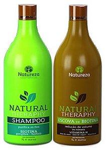 Escova de Biotina Natural Therapy Natureza Cosméticos 2x1litro