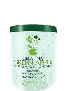 Gelatina Capilar Love Potion Green Apple Hidratação Profunda 1kg + Brinde