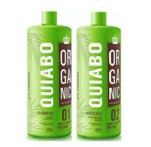 Escova Progressiva de Quiabo Sem Formol Mundo Organic 2x1litro
