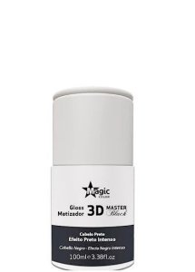 Magic Color Gloss Matizador 3D Master Black Para Cabelos Pretos 100ml