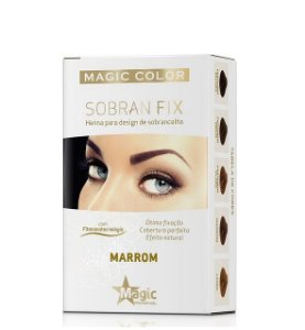 Magic Color Henna para Sobrancelha Sobran Fix Marrom