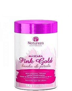 Natureza Cosméticos Máscara Pink e Gold Banho de Pérola 1kg