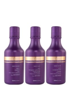 GHair Escova Progressiva Perfect Blond Matizadora 3 passos 250ml