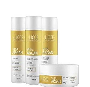 Licce Cosméticos Kit Vita Argan Tratamento Completo 4 itens