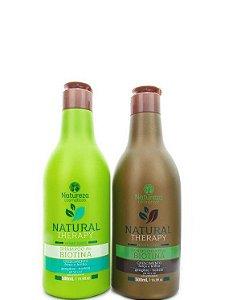 Natureza Cosméticos Kit Biotina Shampoo e Condicionador 2x500ml +Brinde