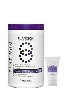 Plancton Btx Platinum Argan e Ojon Sem Formol 1kg + Mask Restore 100g