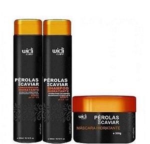 Widi Care Perolas de Caviar Manutenção Home Care 3 itens 300ml + Brinde