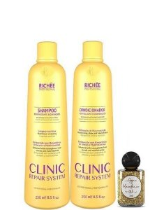 Richée Clinic Repair System Shampoo e Condicionador Kit 250ml + Óleo
