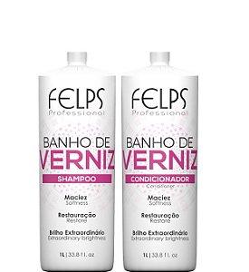 Felps Banho de Verniz Shampoo e Condicionador Kit Brilho 2x1 Litro
