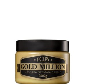 Felps Gold Million Máscara Desmaia Cabelo 300g