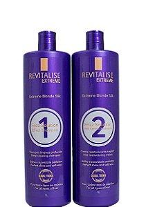 Revitalise Extreme Blonde Silk Progressiva Sem Formol 2x1 Litro