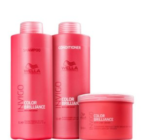 Wella Brilliance Kit Shampoo Condicionador e Máscara Invigo ( 3 Produtos )
