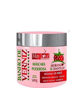 May Love Banho de Verniz Morango e Chantilly Máscara Poderosa 500g