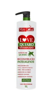 May Love Quiabo Vitaminado Reconstrução Inteligente 1 litro