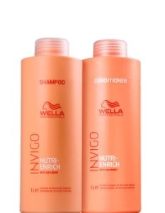 Wella Nutri Enrich Kit Shampoo e Condicionador Invigo 2x1Litro