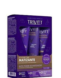 Itallian Trivitt Home Care Kit Blonde Matizante Hidratação 3 itens