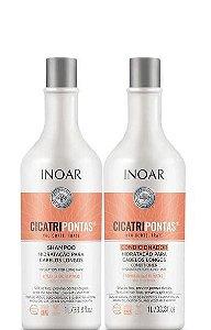 Inoar Kit Cicatripontas Shampoo e Condicionador 1 Litro + Brinde